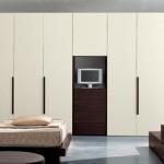 Ντουλάπα με ανοιγόμενες μονοκόμματες πόρτες βακελίτη
