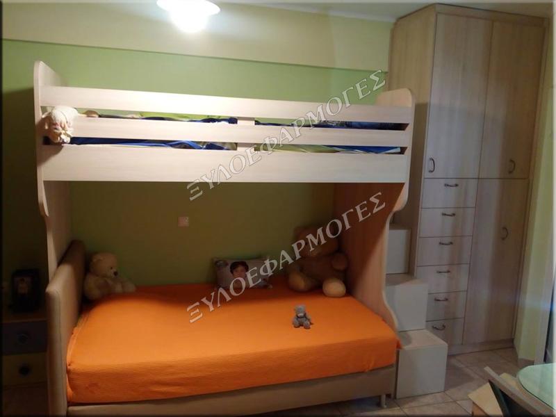 Παιδικό δωμάτιο με κρεβάτι κουκέτα